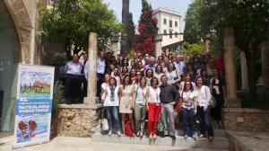 Foto de Familia de ponentes y congresistas en el Centro Cultural Sa Nostra.